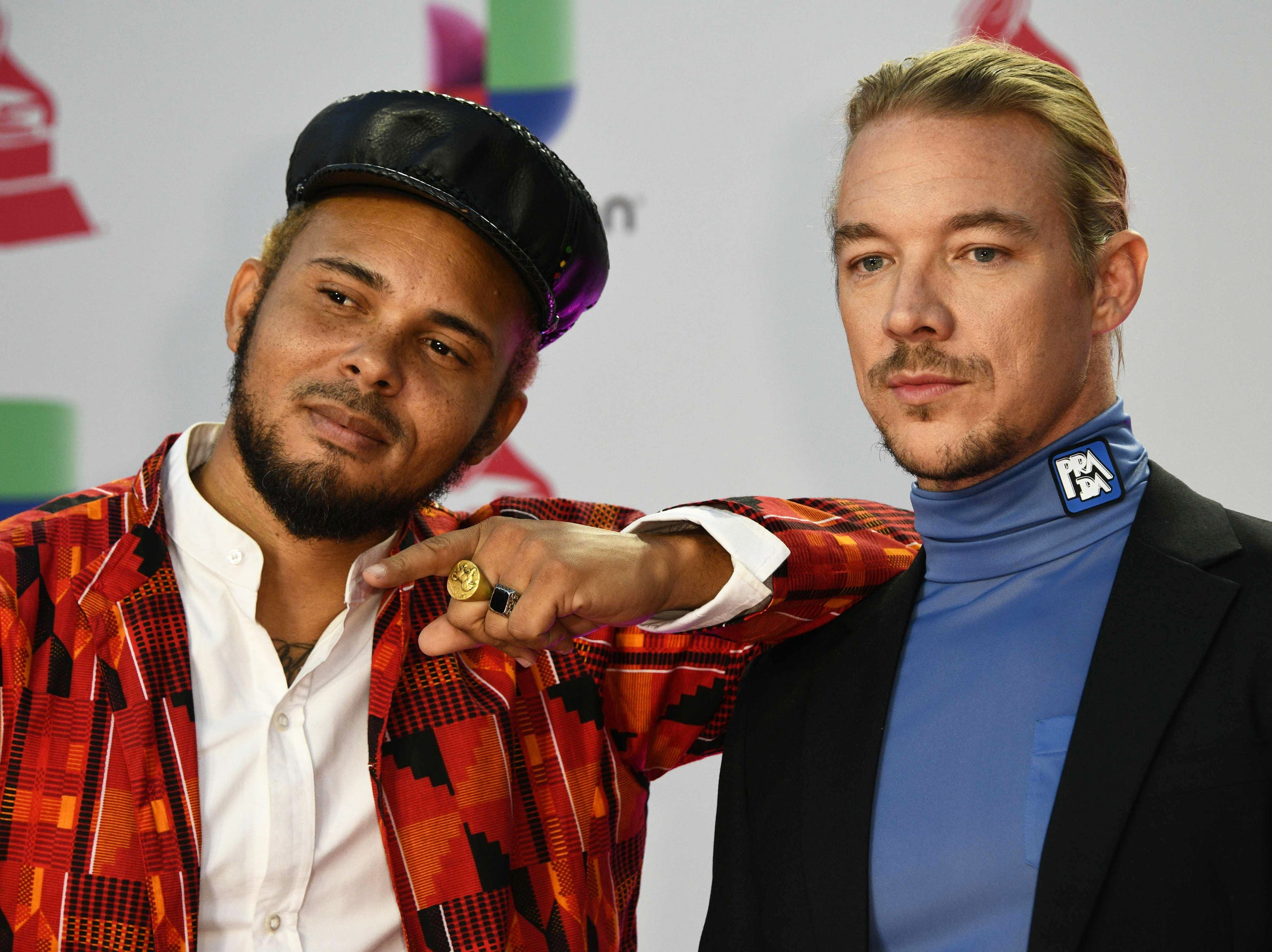 Walshy Fire, left, and Diplo of Major Lazer