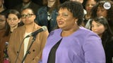 Democrat Stacey Abrams says she isn't conceding, but she isn't going to drag on the Georgia governor's race any longer.