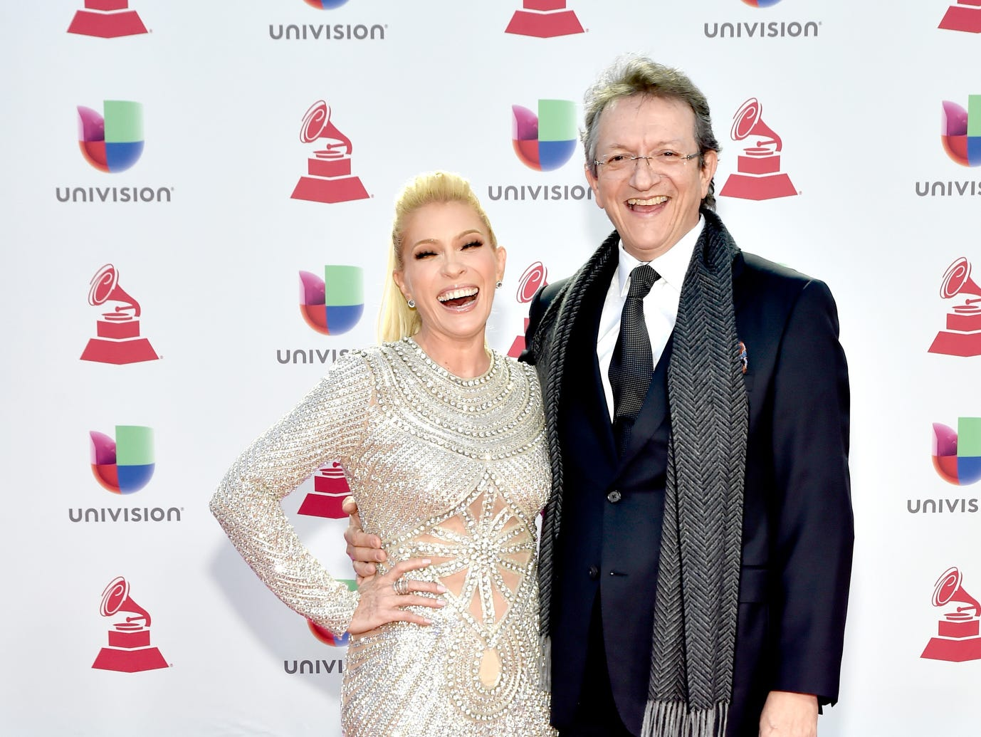 Yuri and President and CEO of the Latin Recording Academy Gabriel Abaroa.