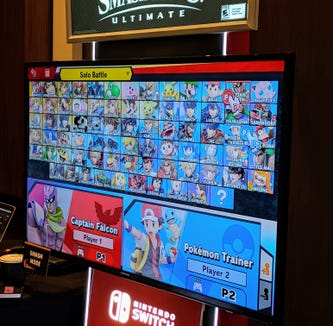 The many characters you can play with in 'Super Smash Bros. Ultimate.'