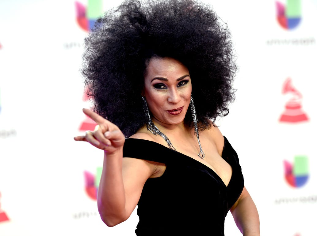 Aymee Nuviola attends the 19th annual Latin GRAMMY Awards.
