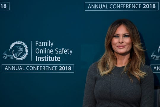 First lady Melania Trump at a conference in Washington on Nov. 15, 2018.
