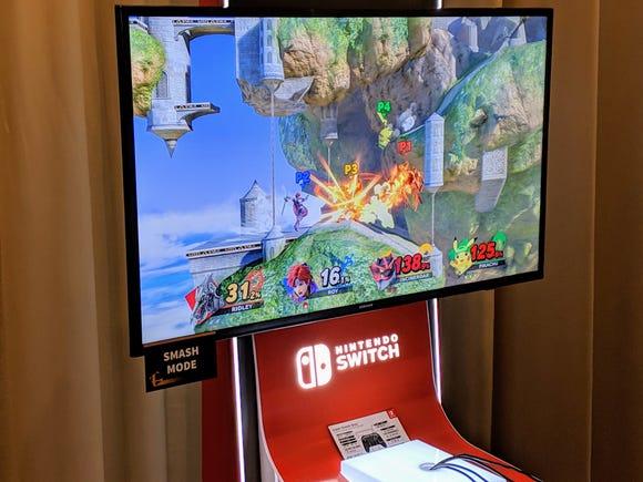 A battle in Nintendo's 'Super Smash Bros. Ultimate.'