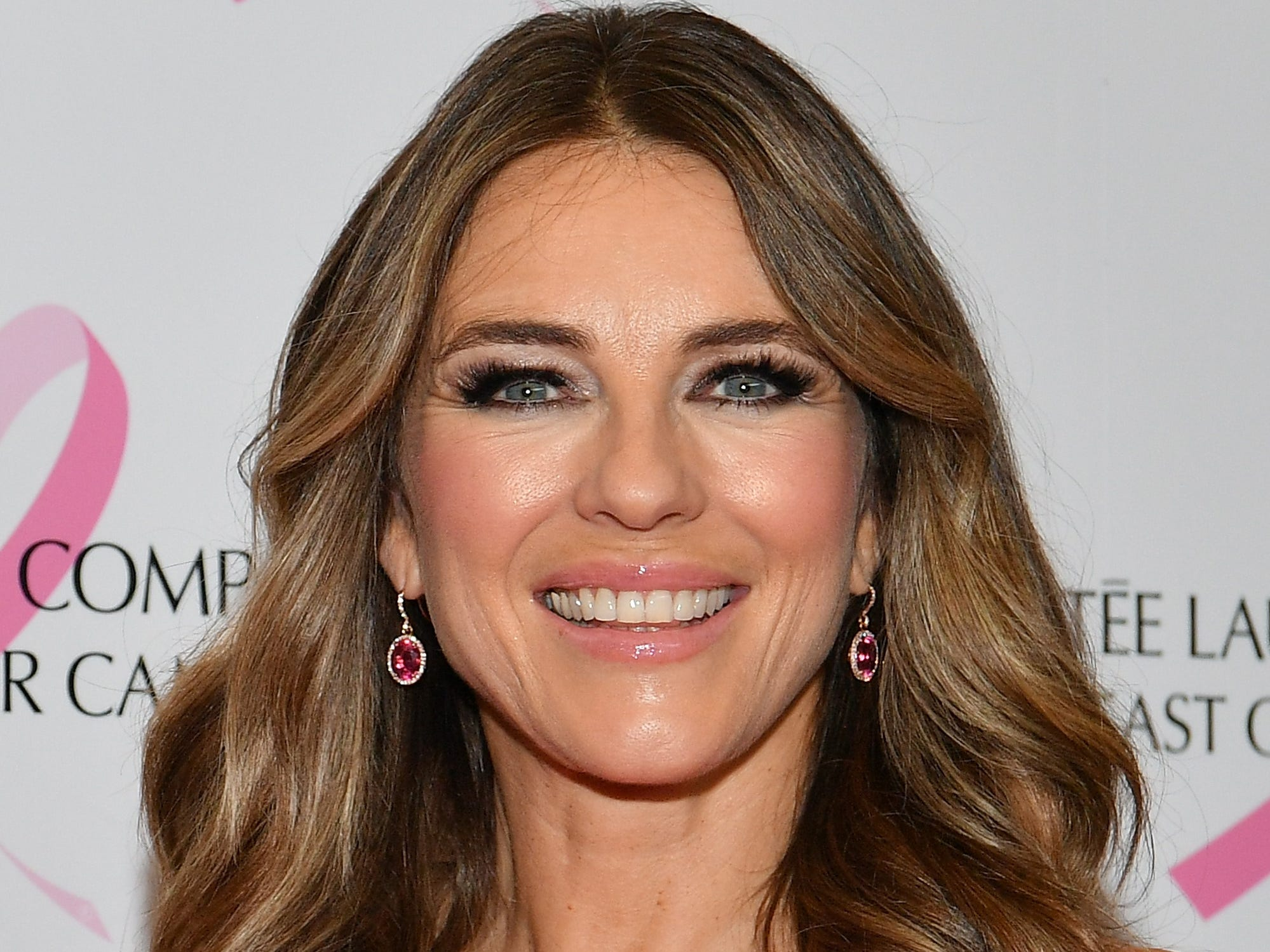 NEW YORK, NEW YORK - OCTOBER 01: Elizabeth Hurley attends the Estée Lauder 2018 Breast Cancer Campaign at Bar SixtyFive on October 01, 2018 in New York City. (Photo by Dia Dipasupil/Getty Images) ORG XMIT: 775235304 ORIG FILE ID: 1047871812