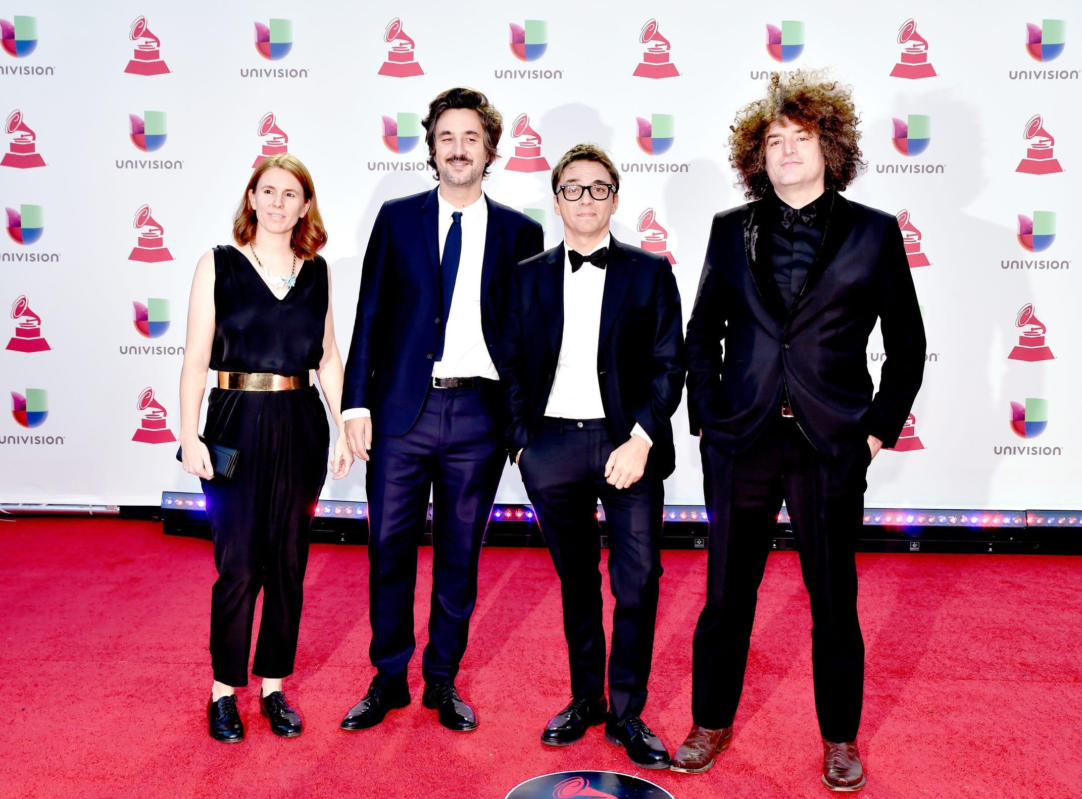 Alba Barneda, left, Nicolas Mendez, Lope Serrano, and Oscar Romagosa