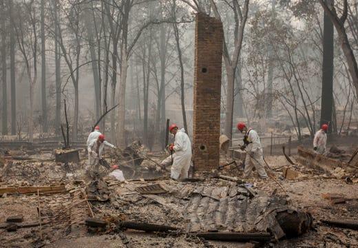 Image result for investigators searching for fire origin in California