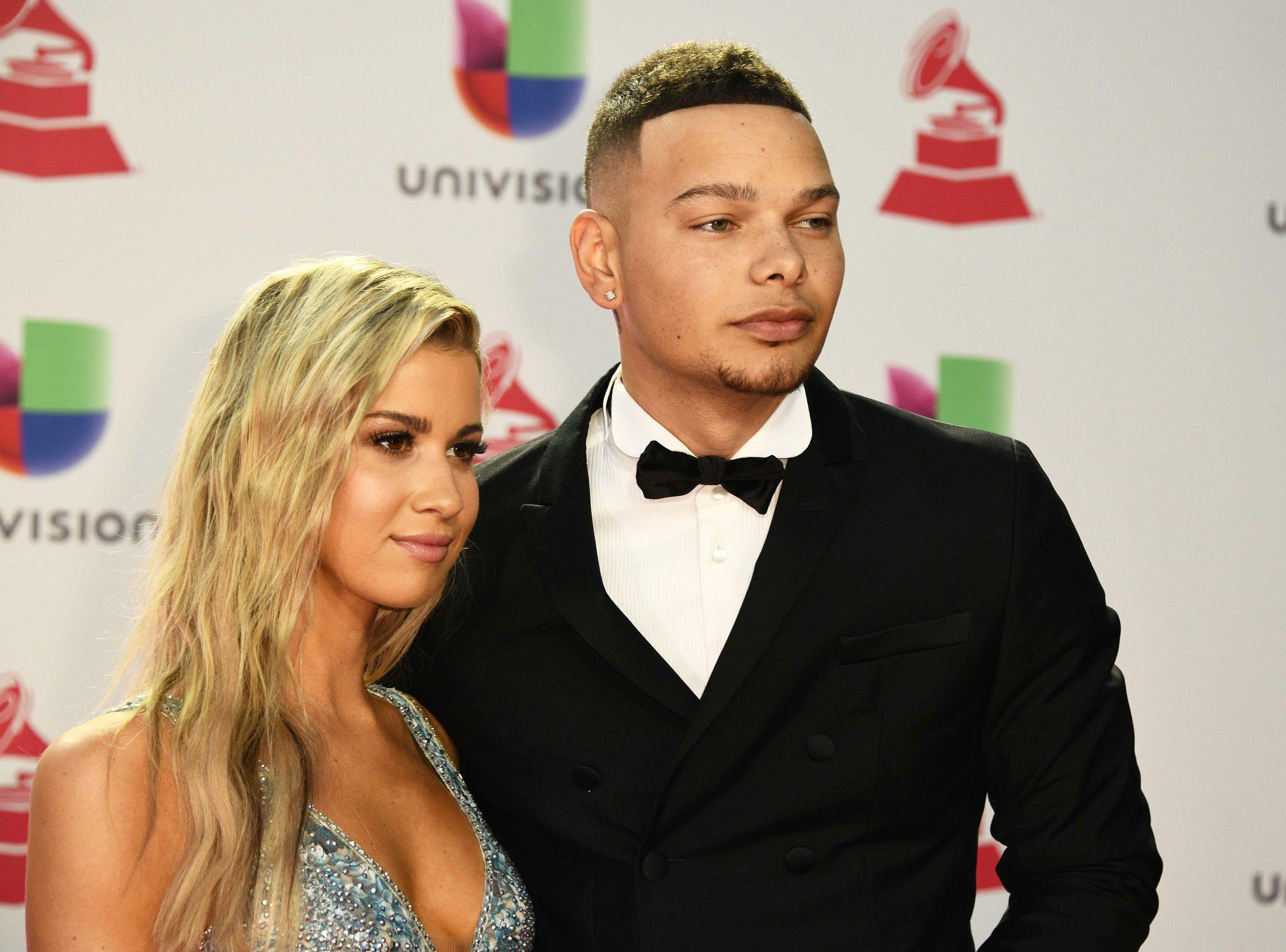 U.S. singer Kane Brown and wife Katelyn Jae