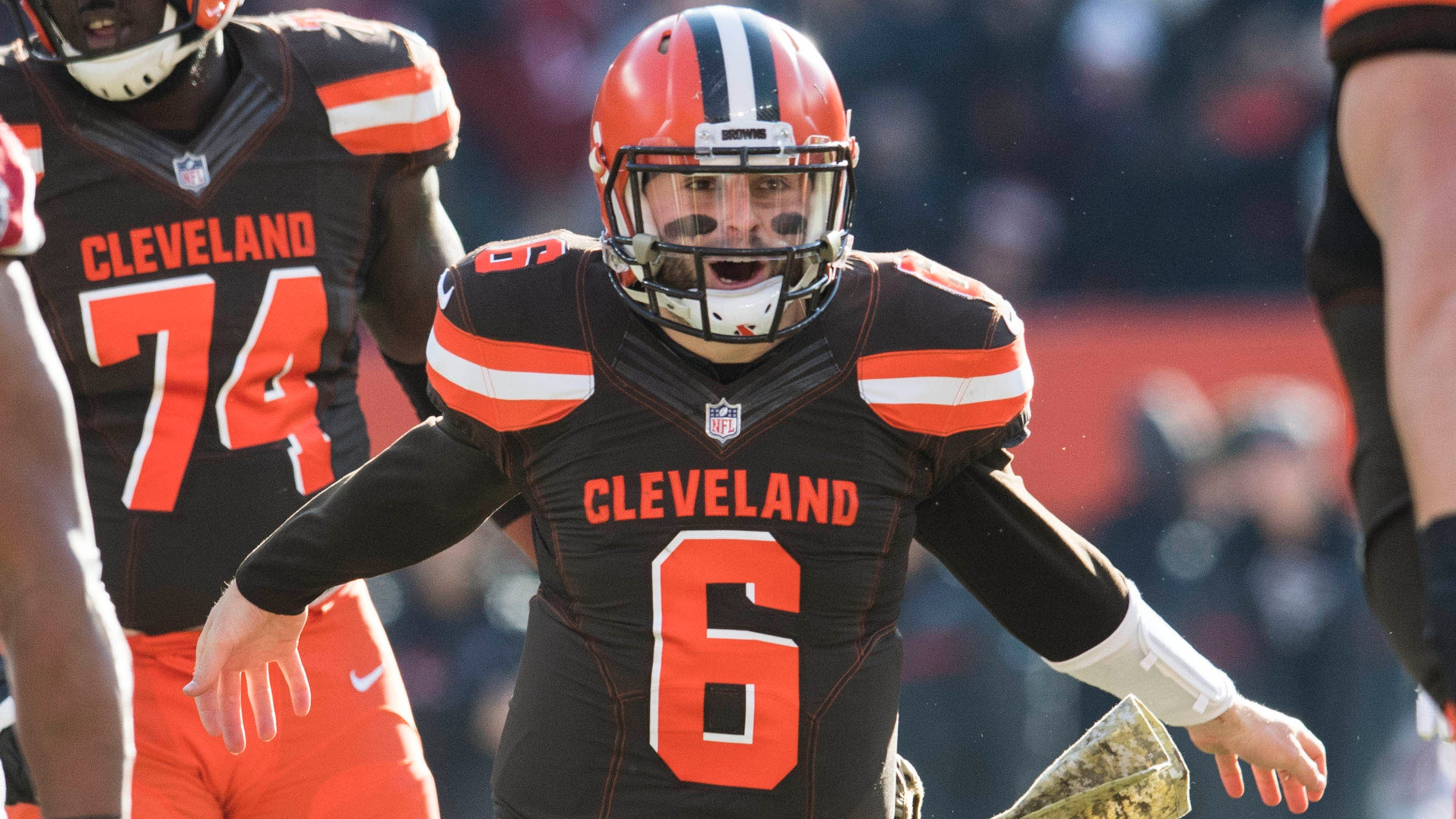 Browns QB Baker Mayfield had his best game of the season in Week 10's win over Atlanta.