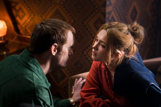 Real-life romance between Becker (Alexander Skarsgard, left) and Charlie (Florence Pugh) gets complicated when he poses as the deceased younger brother of a Palestinian terrorist mastermind.