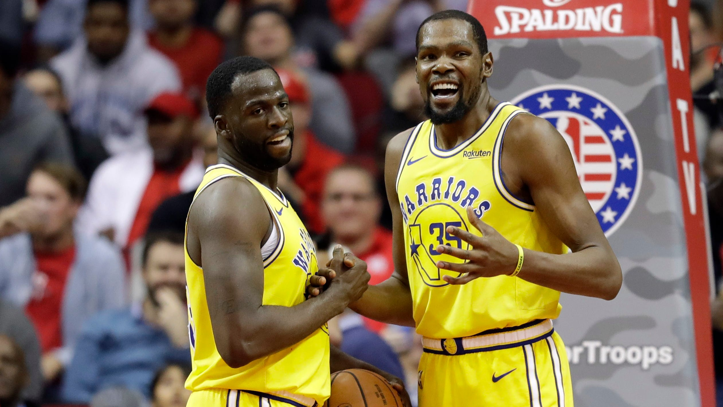 Kevin Durant and Draymond Green