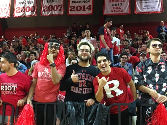 Rutgers' fans packed the student section for the St. John's game.