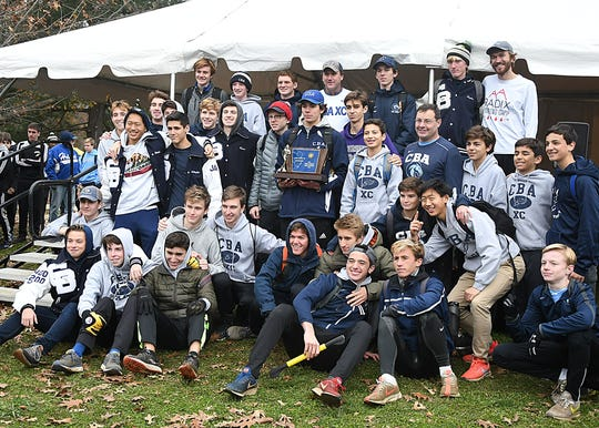 CBA wins the Team Trophy at theTeam Cross Country Meet of Champions at Holmdel Park