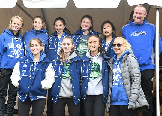 Holmdel Girls Team at the Cross Country Meet of Champions at Holmdel Park