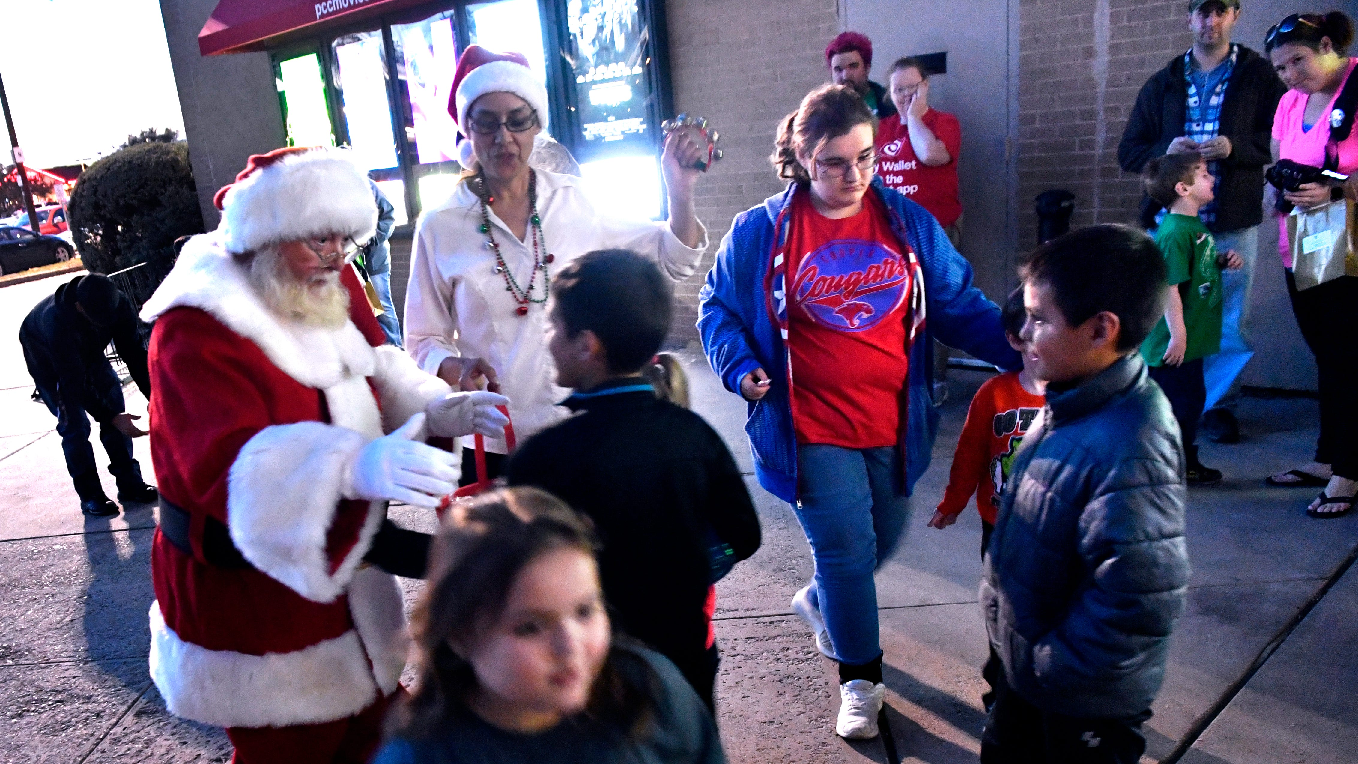 Santa Claus is greeted by children at the Mall of Abilene Friday Nov. 17, 2018. His arrival heralds the beginning of the holiday season, Kris Kringle will be available for consultation and photographs from now until Christmas Eve, excluding Thanksgiving.
