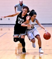Last year Wylie guard Madi Latham (11) came off the bench and has moved into a starting role this season. Latham is one of the veterans the Lady Bulldogs are relying on as the District 4-5A season begins Friday at Wichita Falls Rider.
