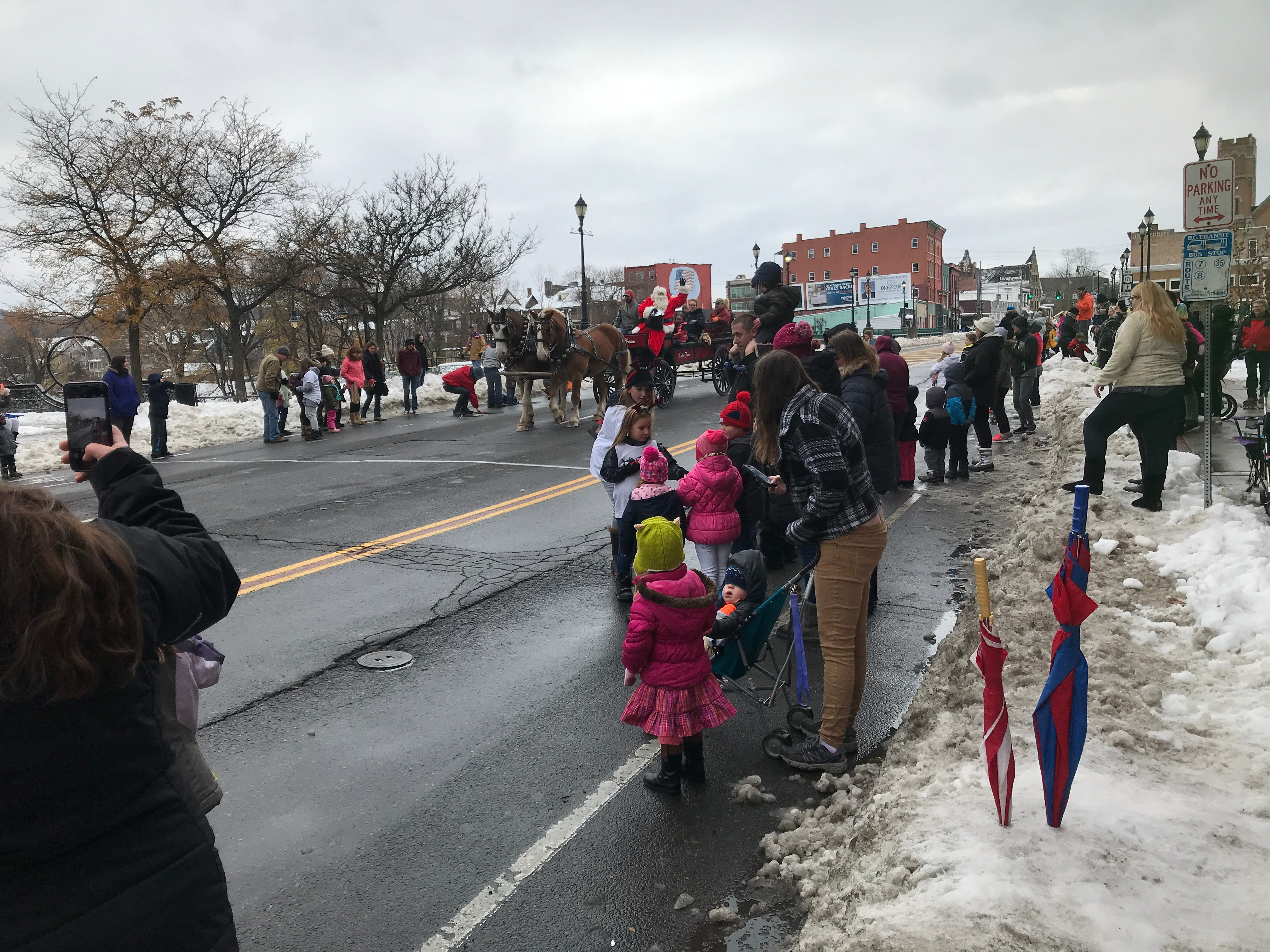 Scenes from Boscov's annual Holiday Parade in Binghamton on Saturday.