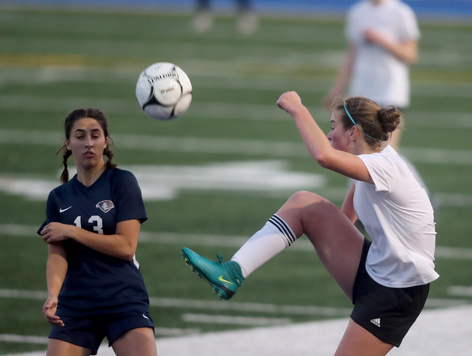 Klahowya lost to King's Way on penalty kicks in overtime in the 2018 Girls Soccer State Championship 1A semifinal game at Shoreline Stadium on Friday, November 16, 2018.