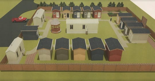 """A """"tiny cabin"""" village is planned as transitional housing for the homeless in South Kitsap."""