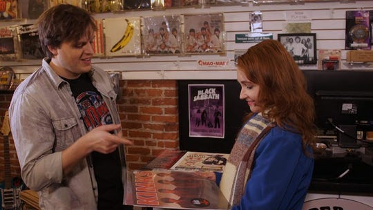 "Gabe Smith and Laurie Getchell play a couple who meet in Port Townsend's legendary Quimper Records in ""Twelve Conversations."""