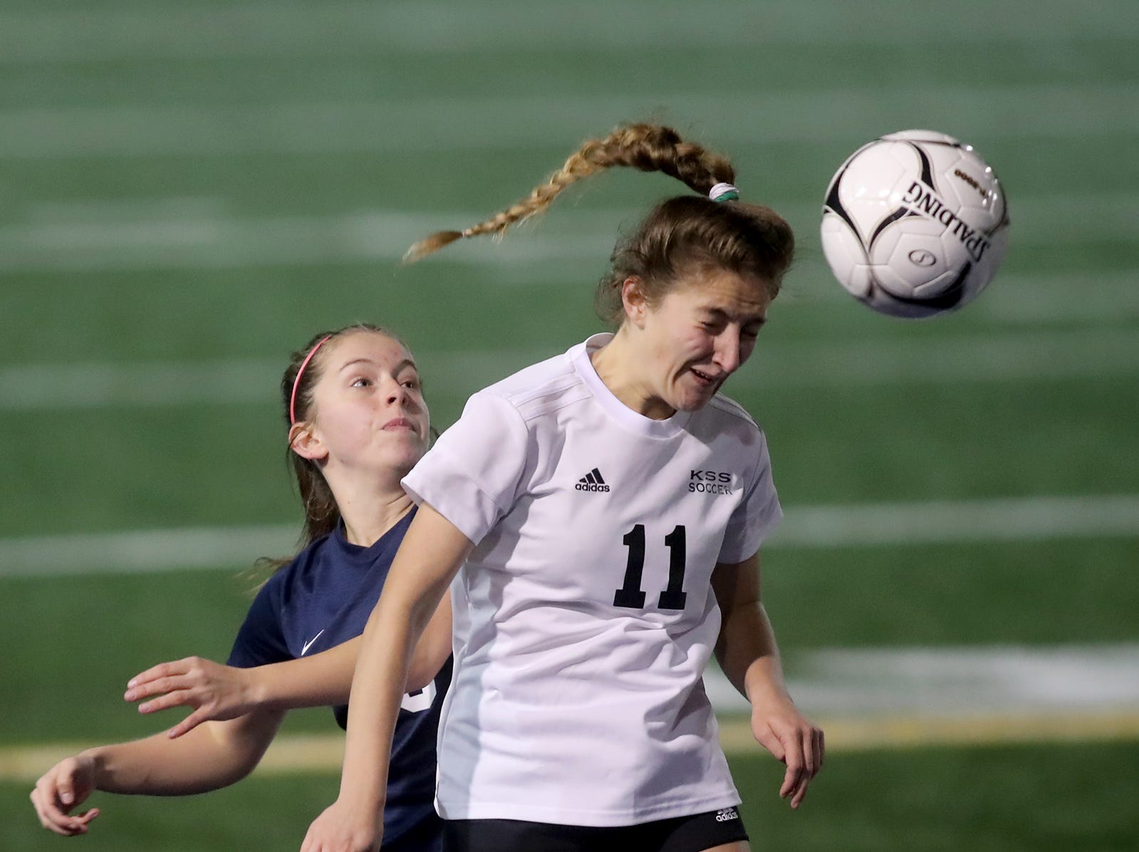 Klahowya lost to King's Way on a shootout kicks in the 2018 Girls Soccer State Championship 1A semifinal game at Shoreline Stadium on Friday, November 16, 2018.