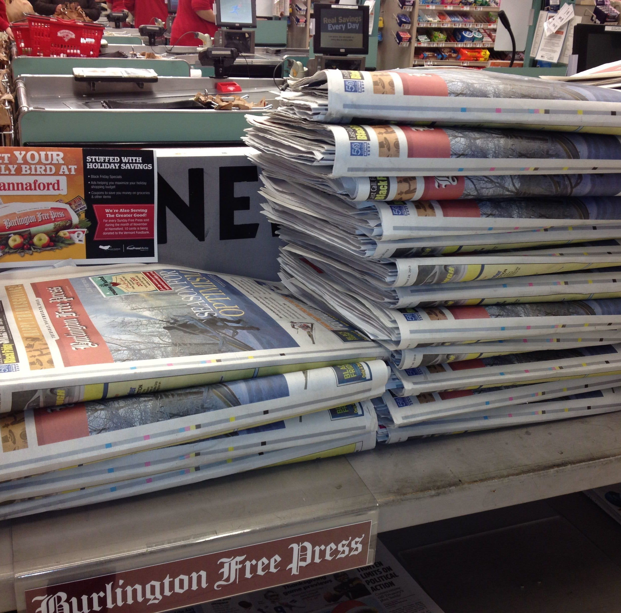Free Press Thanksgiving Day paper on sale Wednesday