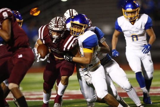 Calallen led Pharr Valley View 42-0 in the fourth quarter of their 5A Division II bi-district playoff football game.