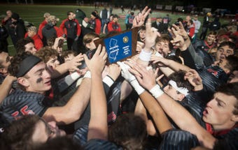 The Haddonfield  High School football team beat Camden, 23-12, to win the South Jersey Group 2 football title on Friday, November 16, 2018.