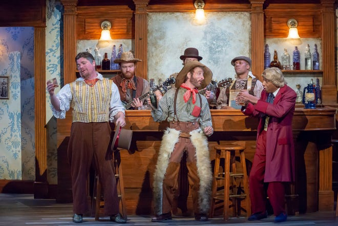"Some of the cast members in Cincinnati Shakespeare Company's raucous Wild West production of ""Twelfth Night,"" staged as a Gold Rush comedy by guest director Austin Tichenor. The play runs through Dec. 8."