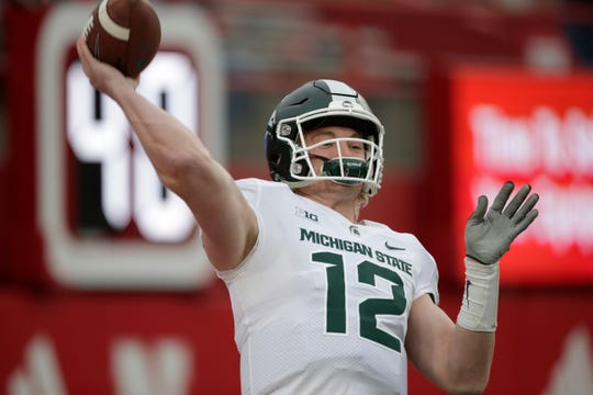 Rocky Lombardi, a fourth-year junior, started three games in place of an injured Brian Lewerke in 2018.