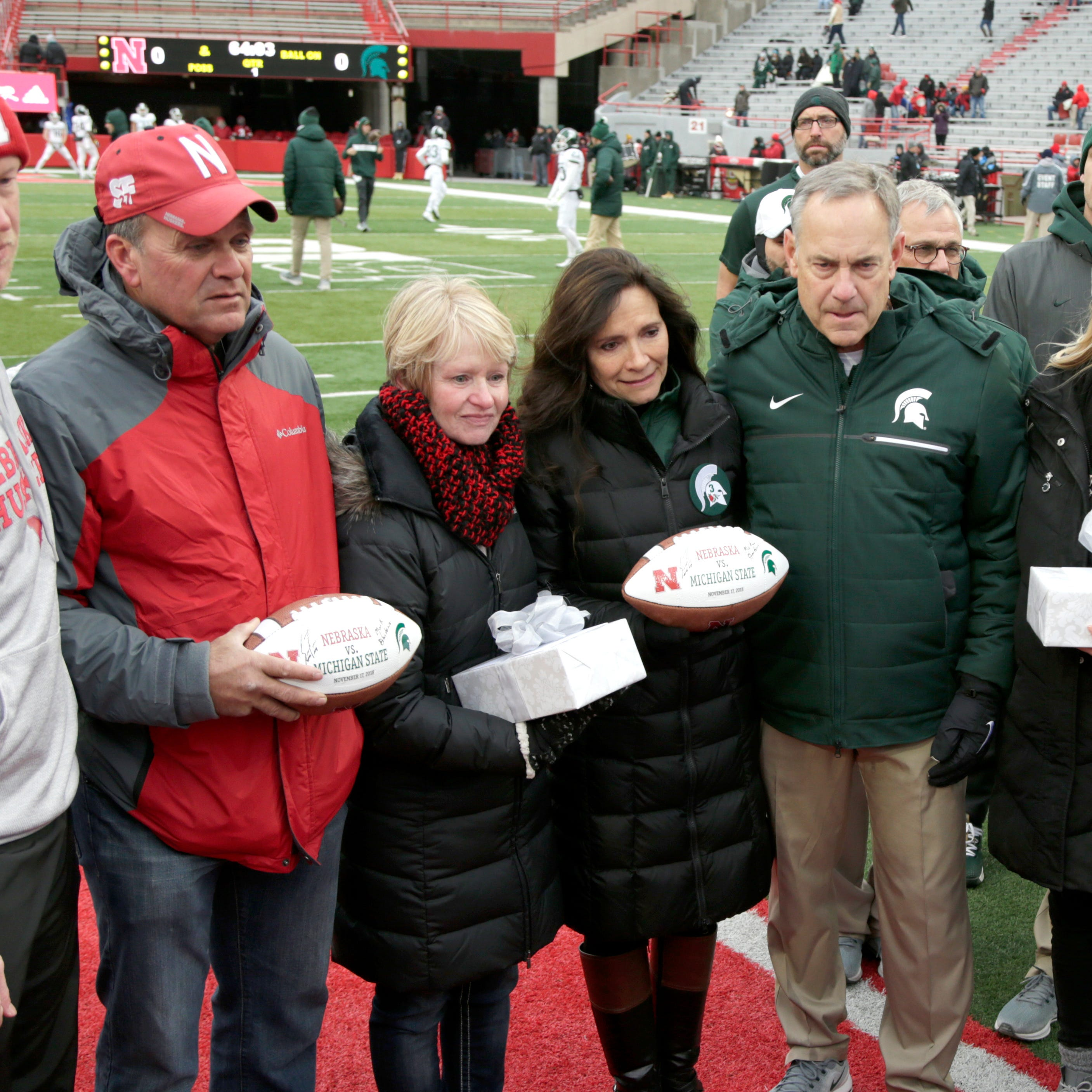 MSU, Nebraska pay tribute to late punters Mike Sadler, Sam Foltz