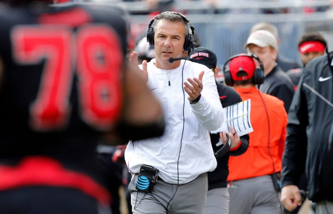 Urban Meyer hates having to defend the performance of his ninth-ranked Buckeyes, who still have a shot at winning the Big Ten and the national championship heading into their game at Maryland.