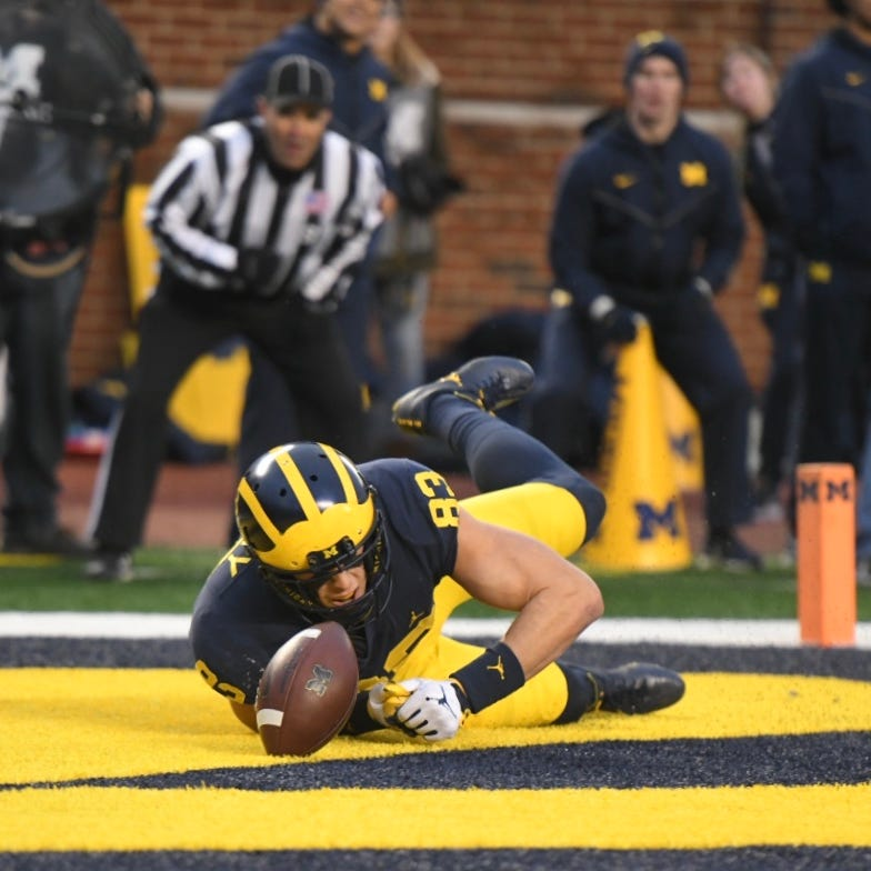 Live updates: Higdon TD puts UM up, 22-17, on Indiana