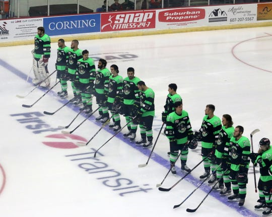 The Elmira Enforcers made their home debut Nov. 16, 2018 against the Carolina Thunderbirds at First Arena.