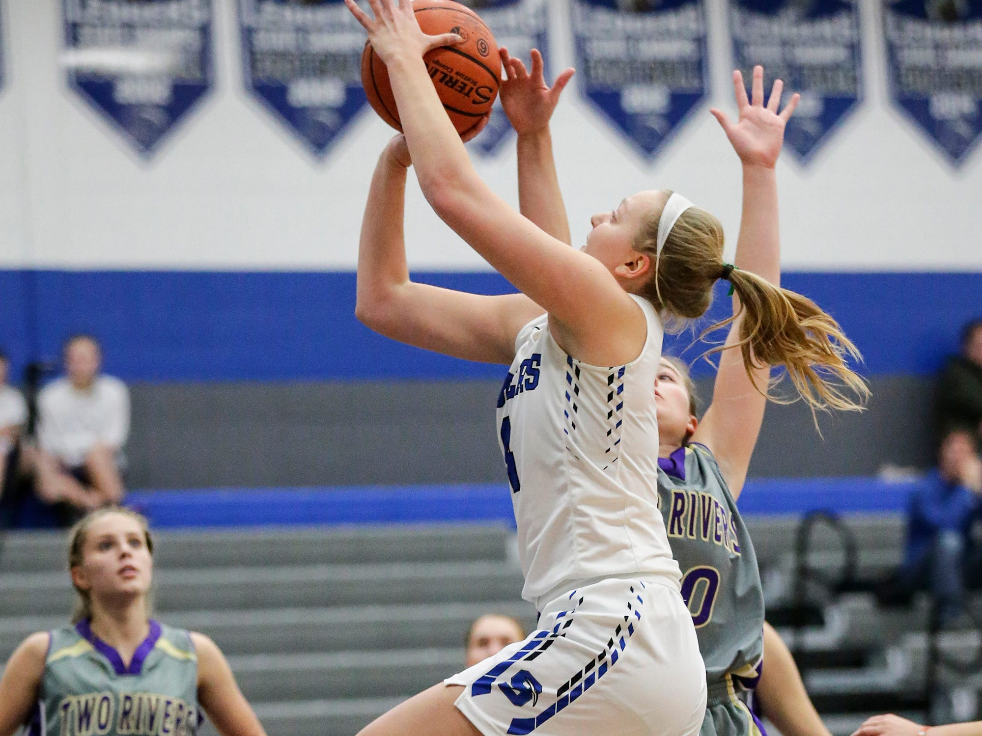 St. Mary's Springs girls basketball's Brianna Freund goes up for a basket against Two Rivers High School during their game Friday, November 16, 2018 in Fond du Lac. Doug Raflik/USA TODAY NETWORK-Wisconsin