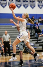 Senior guard Gracie Rieder leads the Ledgers in scoring, averaging 13.5 points per game this season.