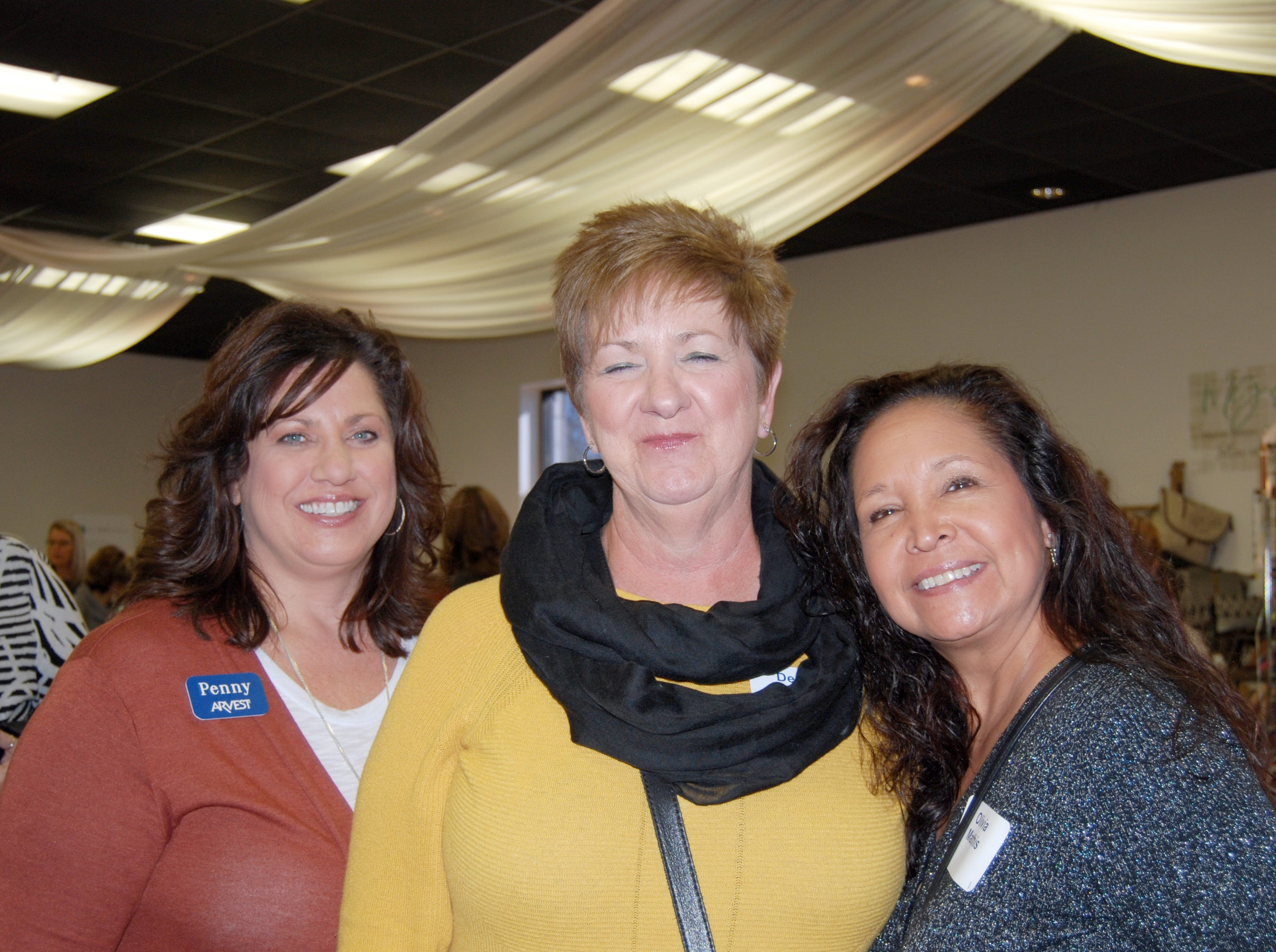 Penny Lacy, Debbie Johnson and Olivia Mathis
