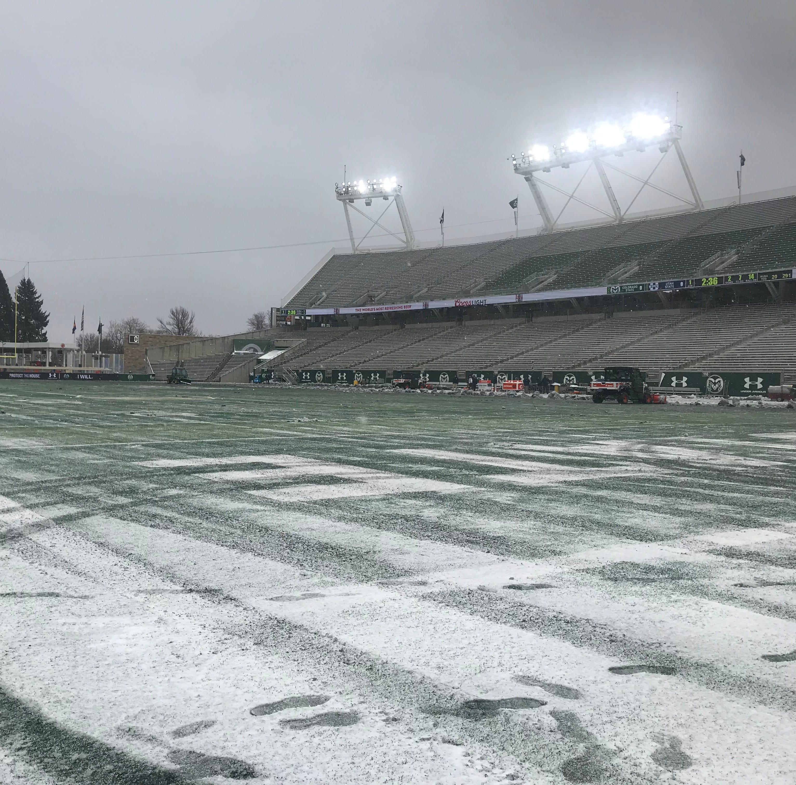Live score, updates: Colorado State University football hosts top-15 Utah State football team