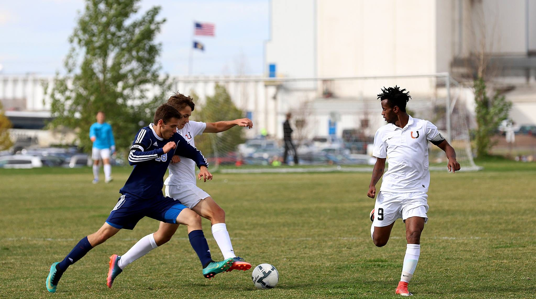 Billings Senior's Caleb Borgstrom, right, was named to the Tribune's Super-State soccer team.