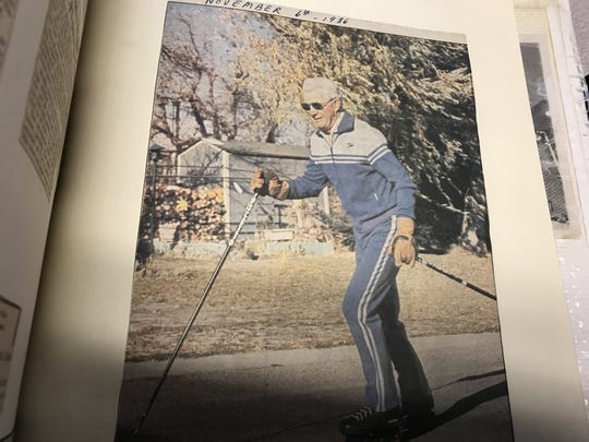 Ray B. Brady was an avid roller-blader in Great Falls until he turned 84. The famed former Great Falls hockey star recently turned 100.