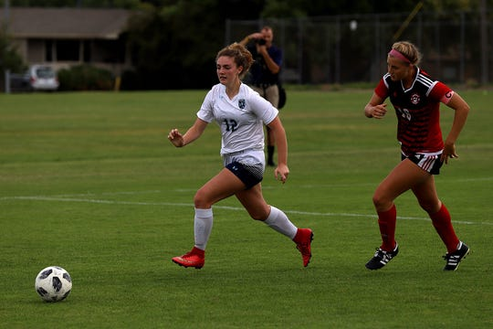 Bozeman's Sophia Robinson, right, was named to the Tribune's Super-State soccer team.