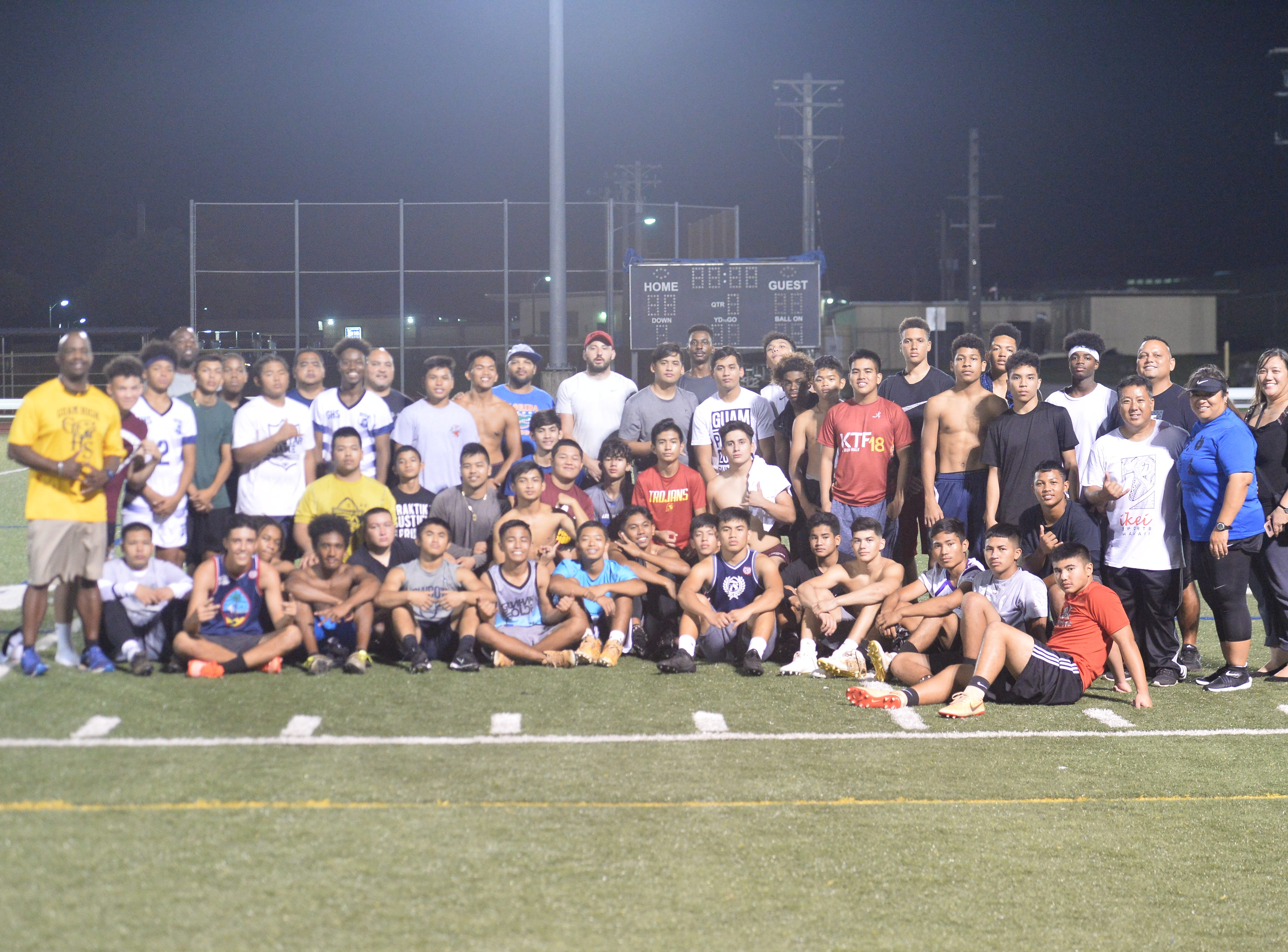 The underclassmen ruled the final day of 2nd College Football Showcase and Combine Nov. 15 at Guam High.