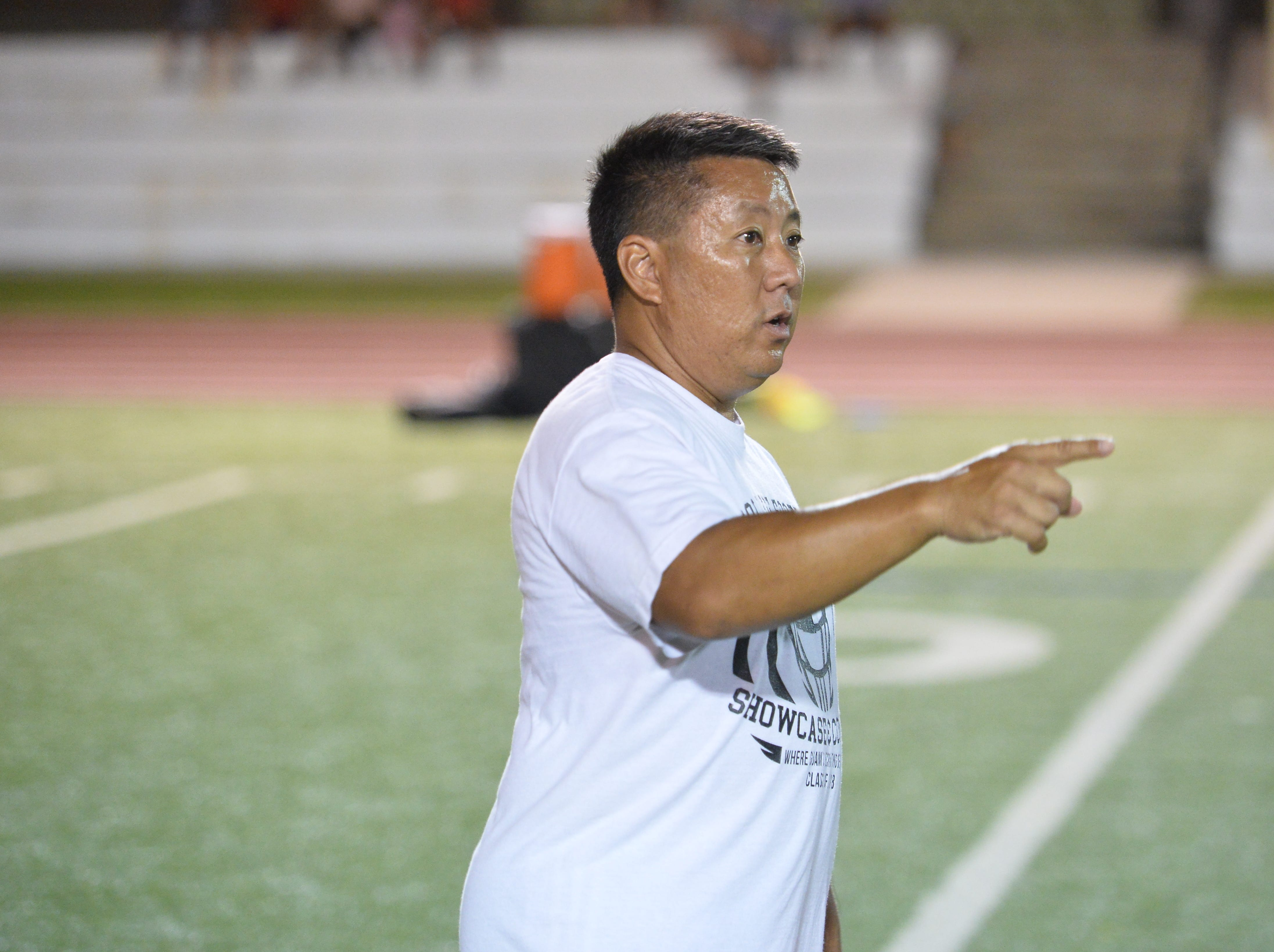 Chad Ikei, a longtime professional strength coach out of Hawaii. was one of a half-dozen volunteers who offered a three-day college showcase and combine to help Guam athletes.