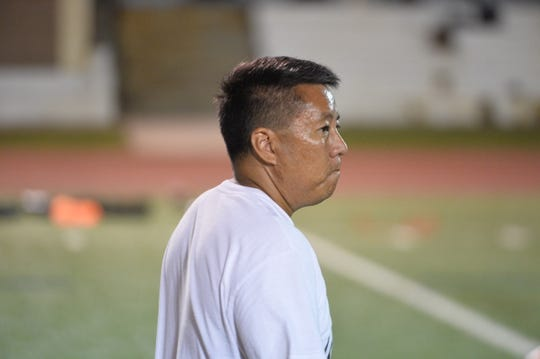 Chad Ikei, a strength and conditioning coach for hundreds of NFL athletes, returned to Guam for the 3rd Annual Guam College Football Showcase and Combine held Nov. 1-2 at Guam High.