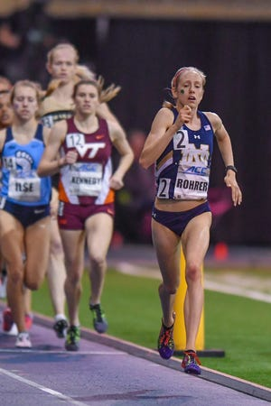 File photo — Notre Dame's Anna Rohrer, of Mishawaka, finished 10th in Saturday's NCAA Cross-Country Championships.