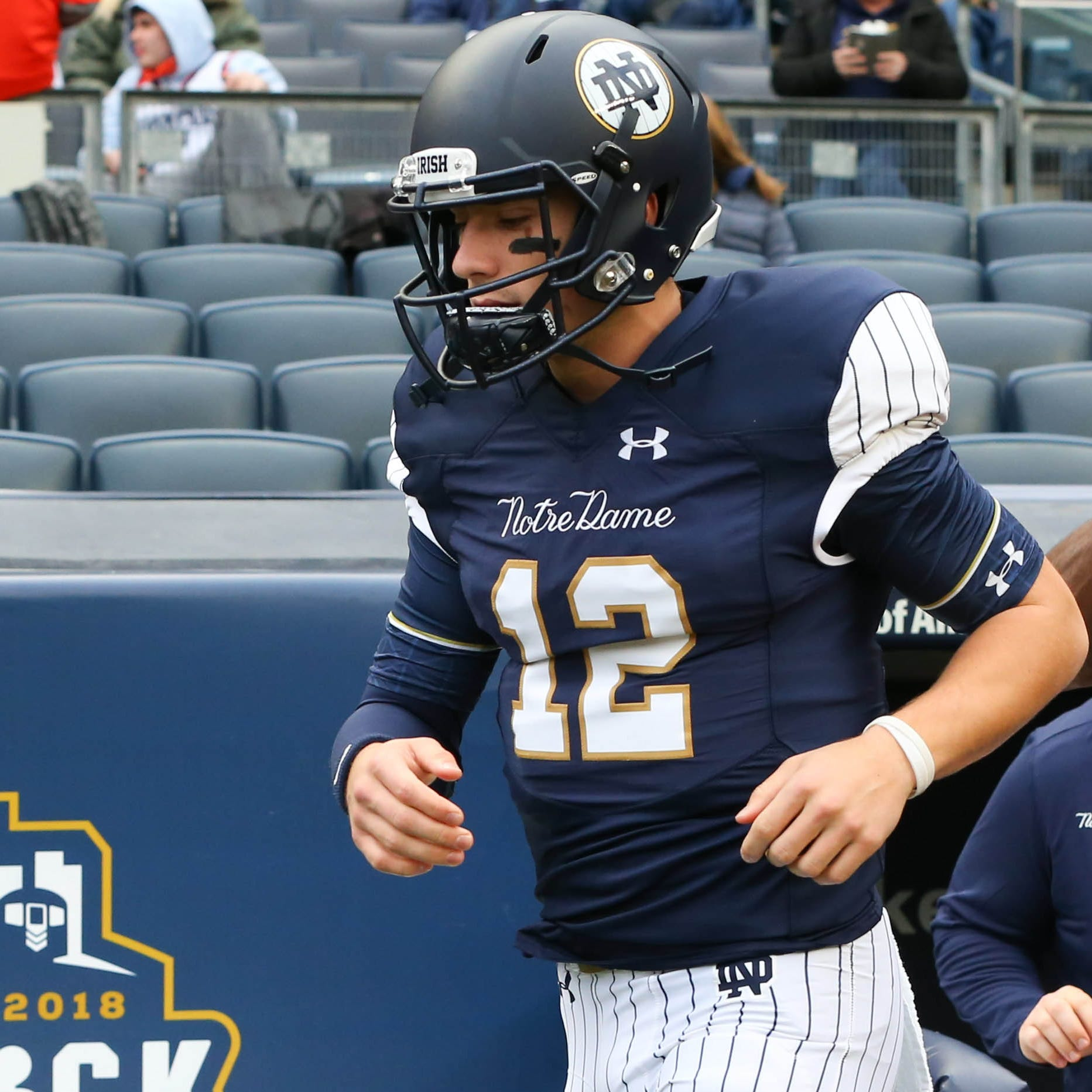 Notre Dame football's pinstripe uniforms vs. Syracuse are getting blasted