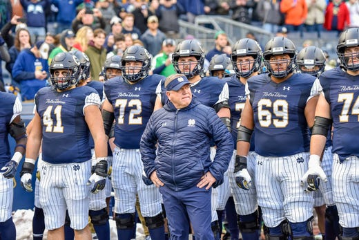 Notre Dame football pinstripe uniforms vs. Syracuse not so ...