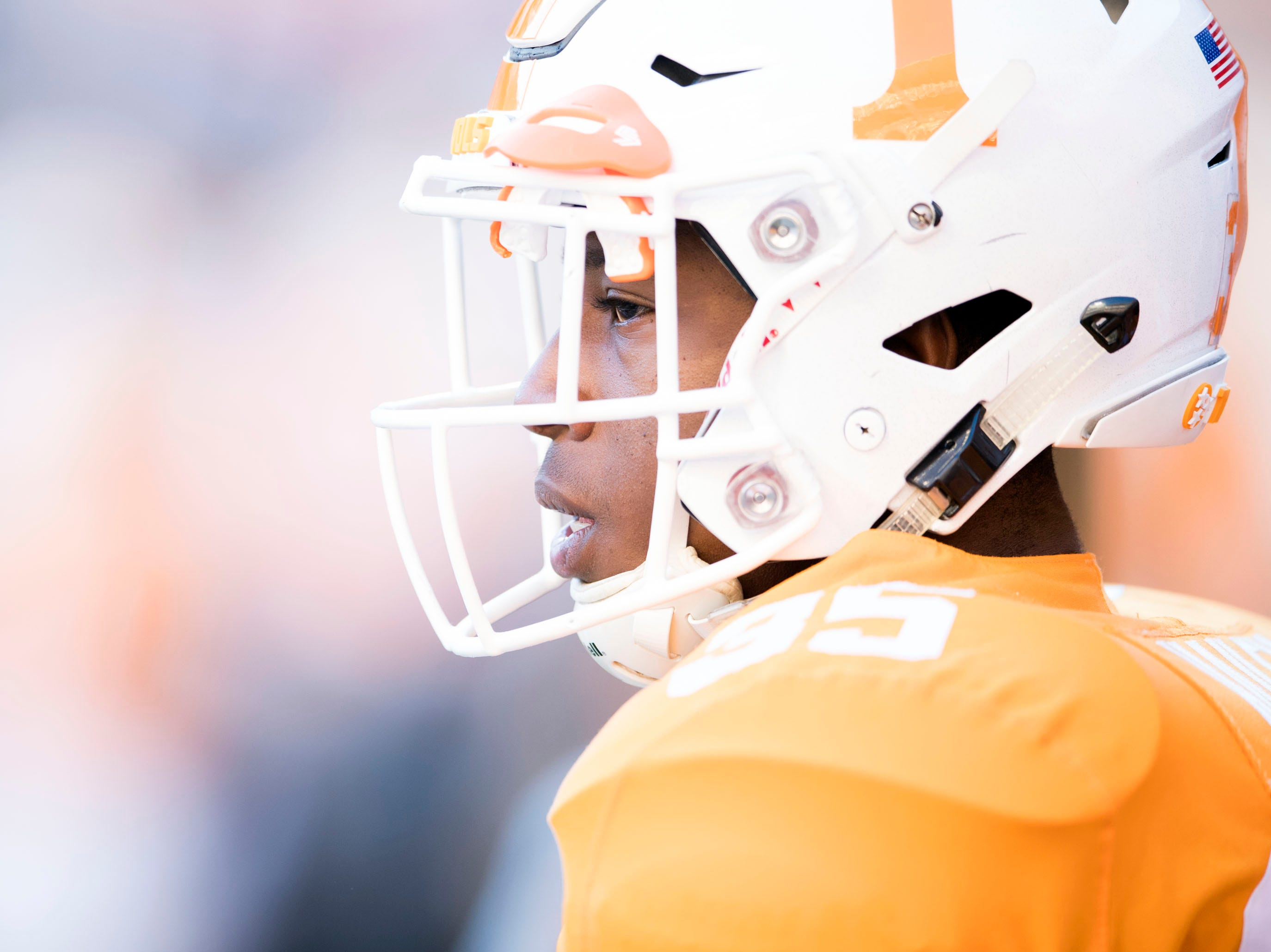 Tennessee linebacker Daniel Bituli (35) before start of the game against Missouri on Saturday, November 17, 2018.