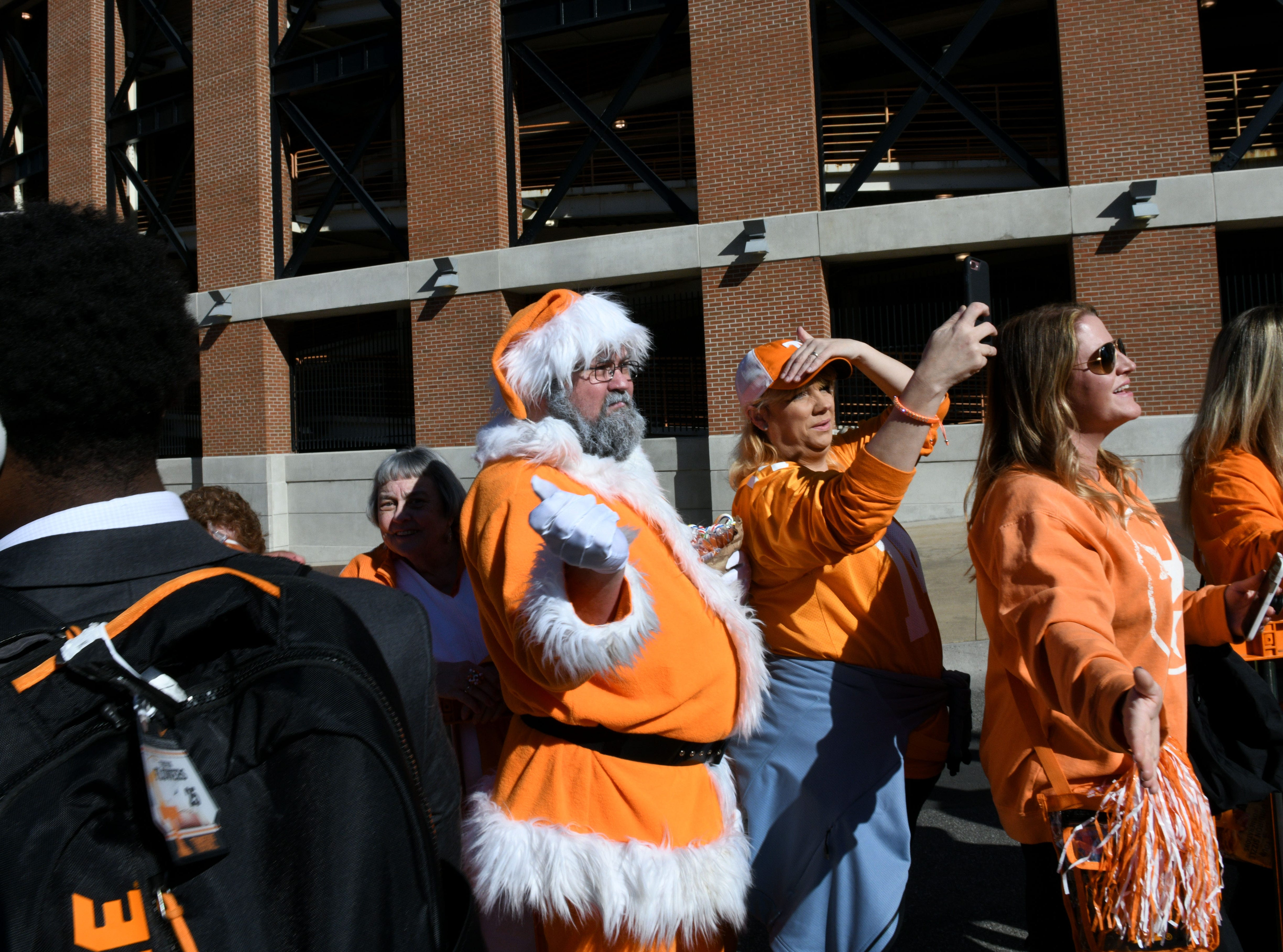 Tennessee fans during the Vol Walk before the Missouri game Saturday, Nov. 17, 2018 at Neyland Stadium in Knoxville, Tenn.