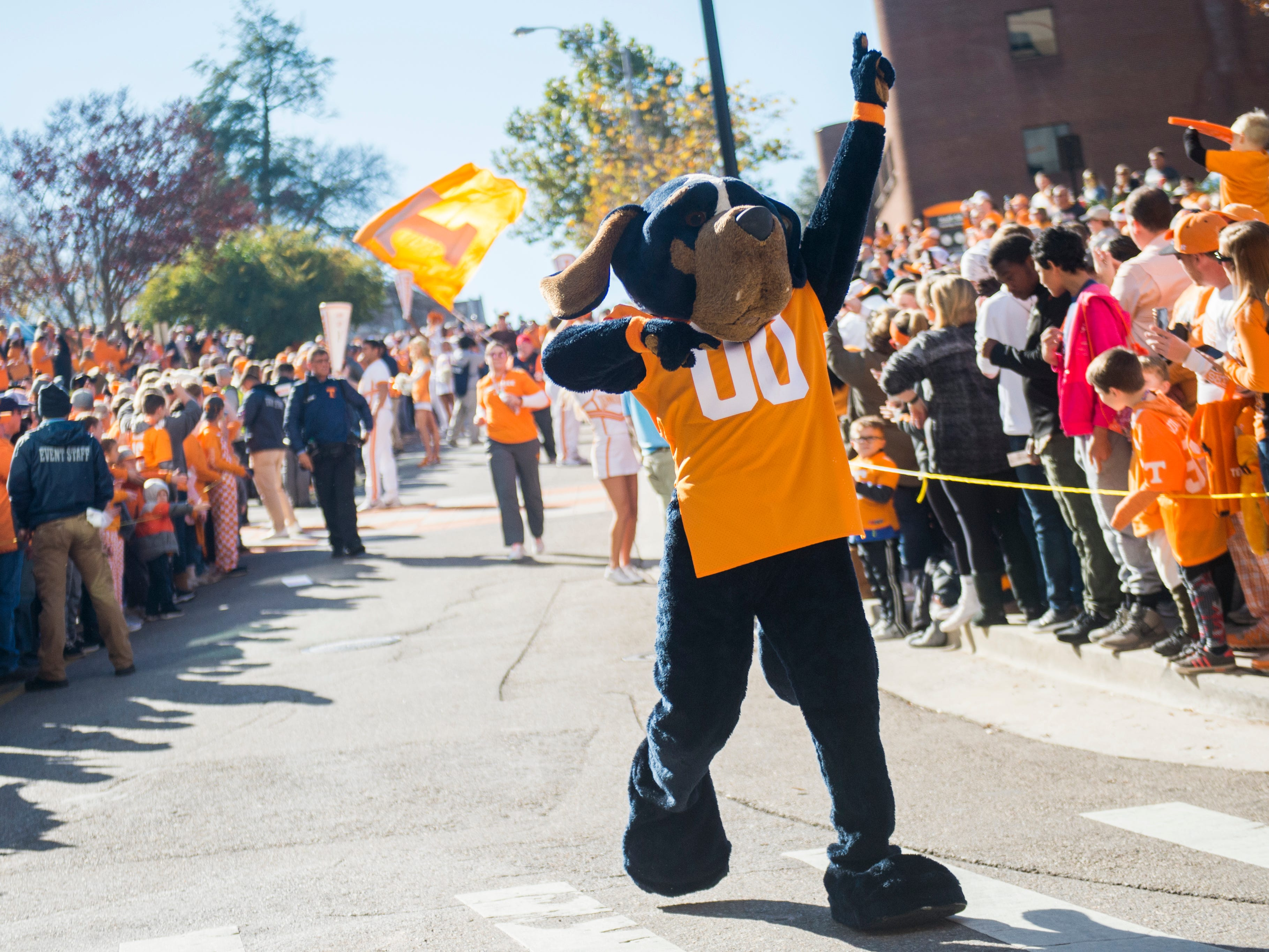 The Vol Walk before the Tennessee Volunteers take on the Missouri Tigers in Neyland Stadium on Saturday, November 17, 2018.