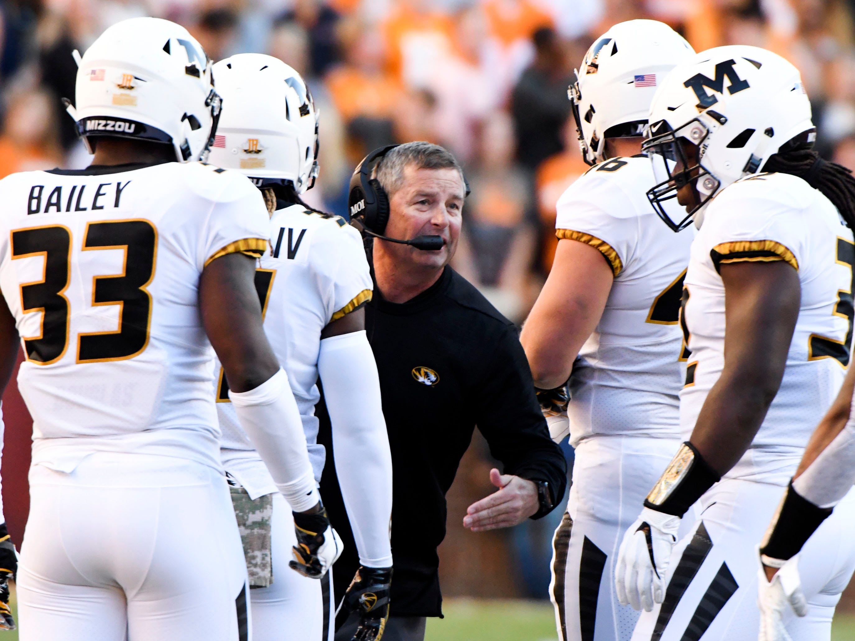 Missouri assistant coach Andy Hill during the Tennessee and Missouri football game on Saturday, November 17, 2018.